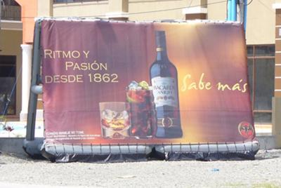 Bacardi portable inflatable billboard sign, roadside