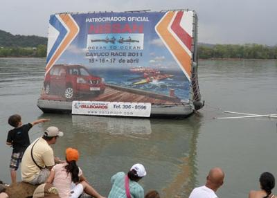 Nissan Floating Billboard