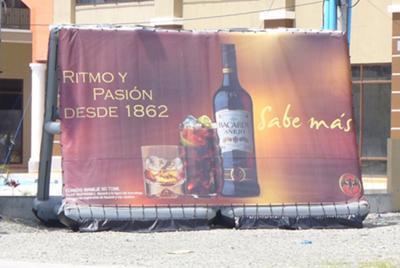 Bacardi portable inflatable billboard sign, roadside