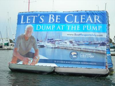 State of California Boating, Pollution Awareness Billboard
